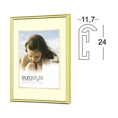Cadre photo 40x60 en résine dorée - Verre synthétique