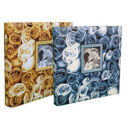 LOT-2-ALBUMS-PHOTO-TRADITIONNEL-ROSES-JAUNE-BLEU