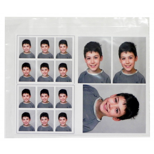 Pochettes transparentes en plastique format 21x25,5 cm