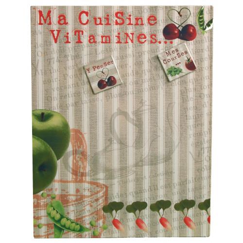Pêle-mêle magnétique 39X30 Métal - Ma Cuisine Vitamines...