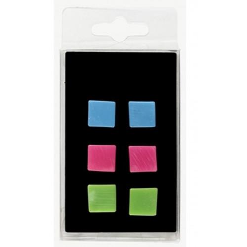 6 aimants Brio - Cubes multicolor