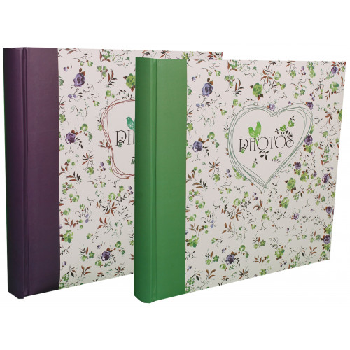 LOT-2-ALBUMS-CHAMP DE FLEURS-TRADITIONNEL-400-PHOTOS-VIOLET FONCE-VERT