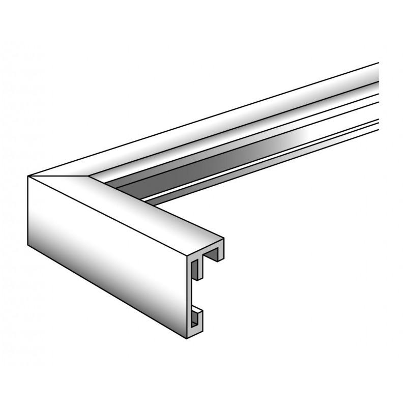 Cadre photo en aluminium brossé Chair argent - Walther