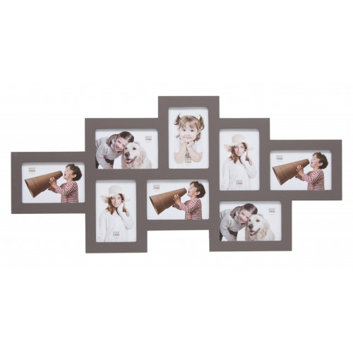 CADRE PHOTO MULTIVUES CROCO BEIGE FONCE