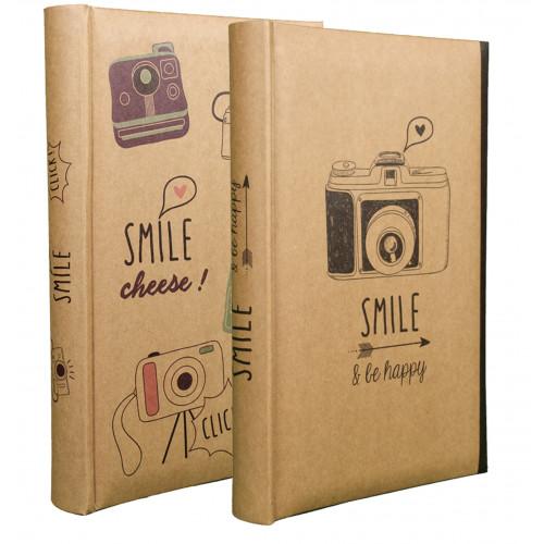 LOT 2 ALBUMS PHOTO SMILE 300 POCHETTES 11,5X15