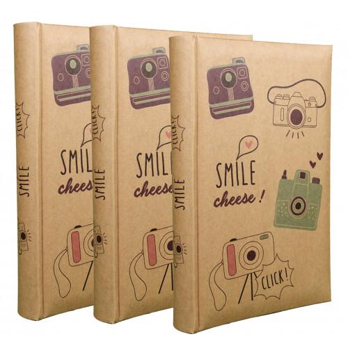 LOT 3 ALBUMS PHOTO SMILE 300 POCHETTES 11,5X15