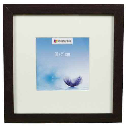 CADRE PHOTO CARRE 20x20 PLUMES