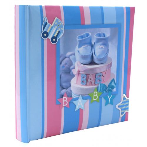 """Album enfant à pochettes """"Baby Blue"""" pour 200 photos 10x15"""