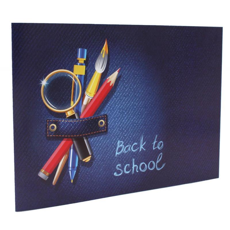 Cartonnage photo scolaire - Groupe 20x30 - Jeans