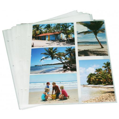 Lot de 40 feuillets pour classeurs photo à pochettes 11,5x15 EXPLORE et MILA à pochette