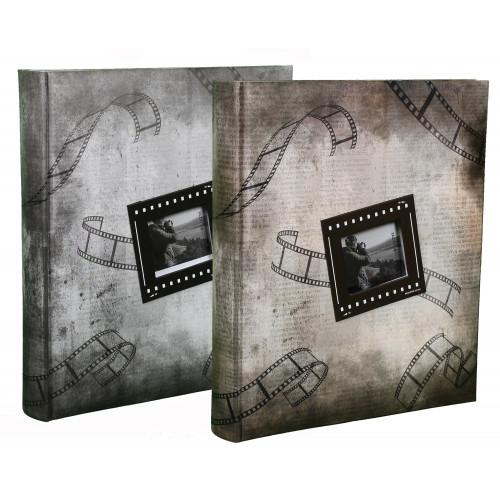 LOT 2 ALBUMS PHOTO PICTURES II 200 POCHETTES 13X18 GRIS/MARRON