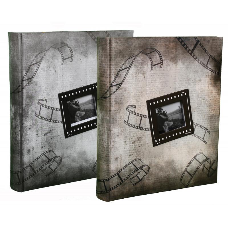 LOT DE 2 ALBUMS PHOTOS PICTURES II 200 POCHETTES 13X18 GRIS/MARRON