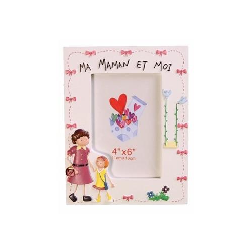 CADRE-PHOTO-ENFANT-10X15-MA MAMN ET MOI-FILLE-VERTICAL