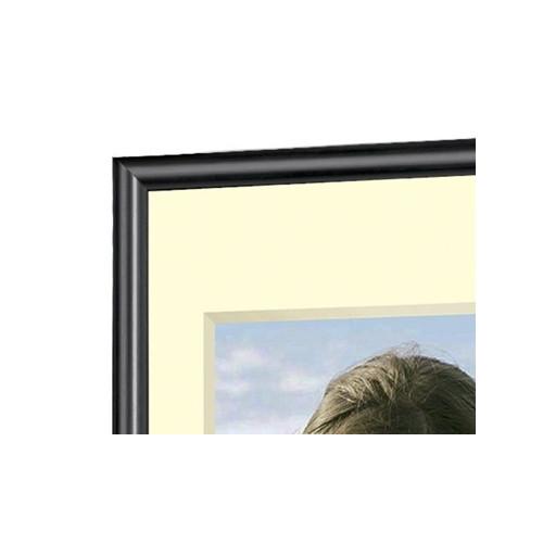 Cadre photo en résine noir - Verre synthétique