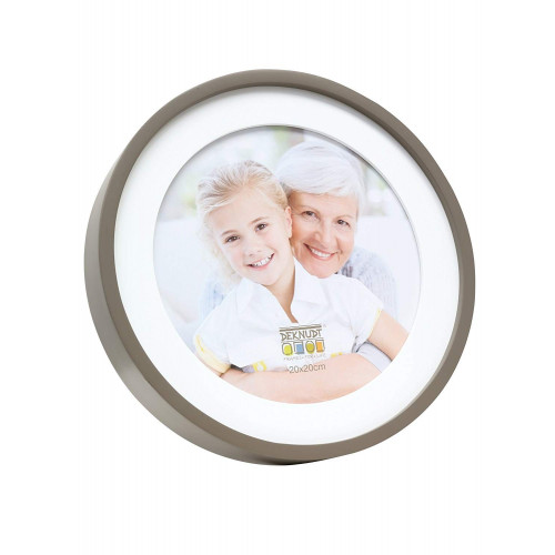 Cadre photo rond  30x30 - Taupe