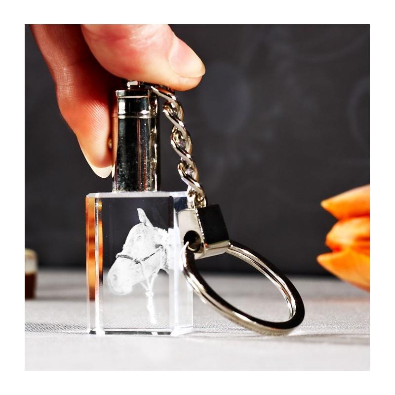 Porte-clef  2D lumineux en verre Viamant personnalisable