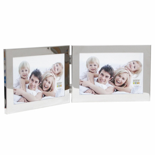CADRE PHOTO DUO HORIZONTAL DEKNUDT S67AH1 H2H ARGENTE