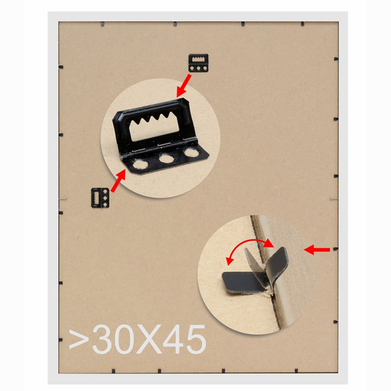 CADRE DEKNUDT S45FD2 ARGENT FILET EXTERIEUR NOIR