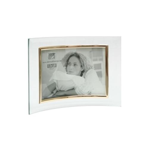 Cadre photo galbé horizontal en verre