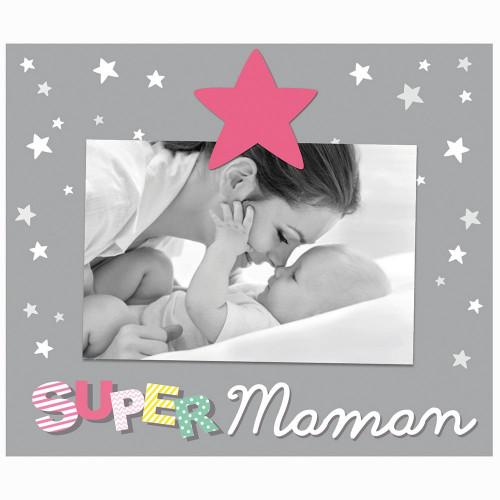 """CADRE PHOTO ENFANT """"SUPER MAMAN"""" 10x15"""