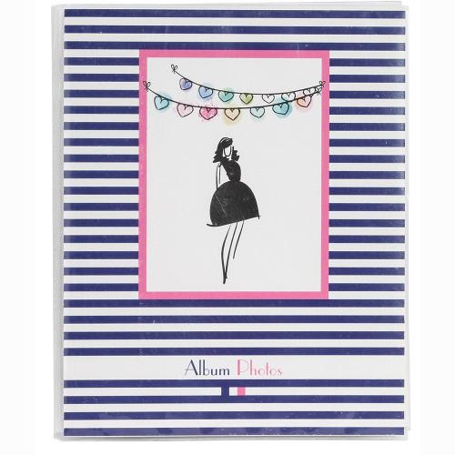 """Mini-album photo à pochettes """"French Touch"""" pour 24 photos 11x15 - Miss Paris"""