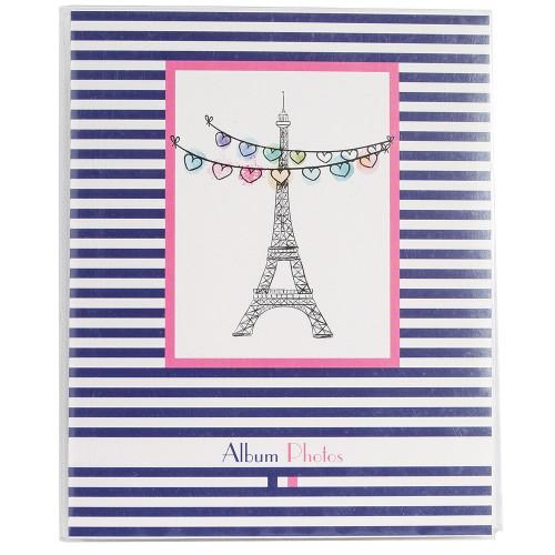"Mini-album photo à pochettes ""French Touch"" pour 24 photos 11x15 - Tour Eiffel"
