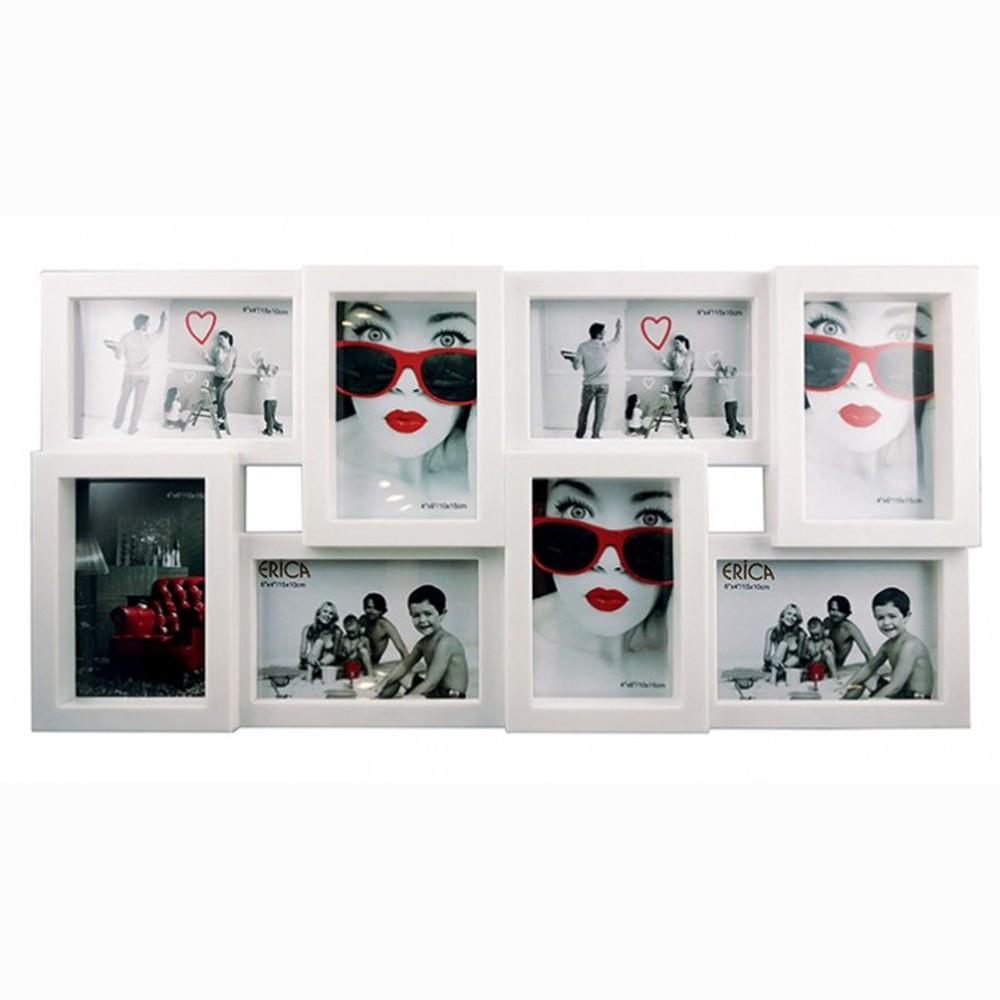 erica, cadre pêle-mêle noir mat pour 8 photos 10x15 - noir