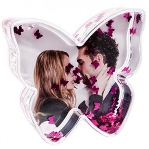 Boule photo en forme de Papillon - Papillons roses