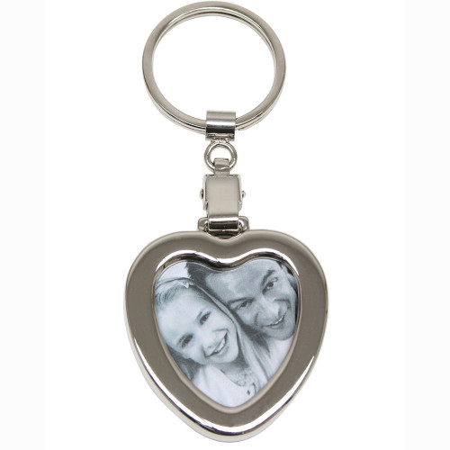 Porte clé photo en métal - coeur - Deknudt