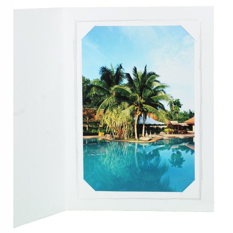 Cartonnage photo blanc Fusain