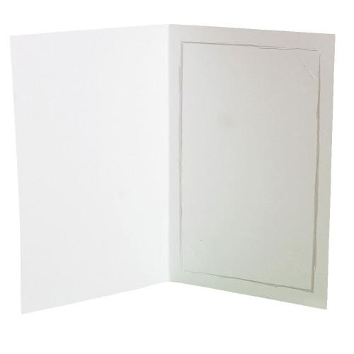 Cartonnage photo blanc - Fusain