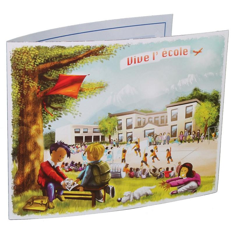 Cartonnage photo scolaire - Groupe 18x24 - Vive l'école New