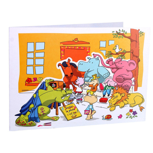 Cartonnage photo scolaire - Groupe 18x24 - Les Animaux New