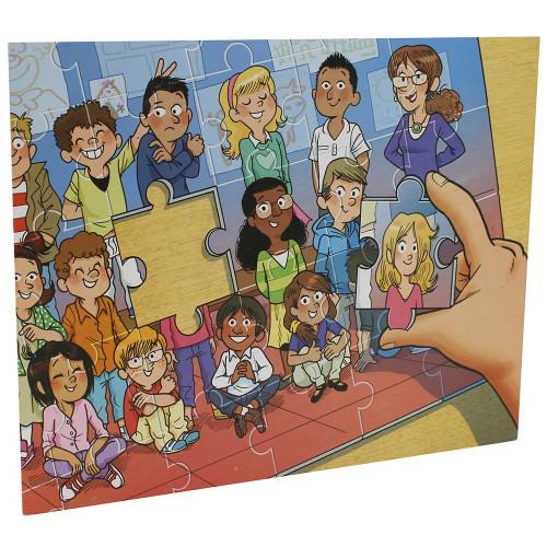 Cartonnage photo scolaire - Groupe 18x24 - Puzzle