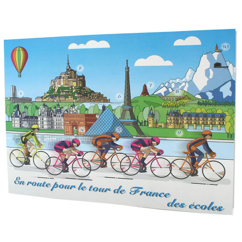 Cartonnage photo scolaire - Groupe 18x24 - Tour de France