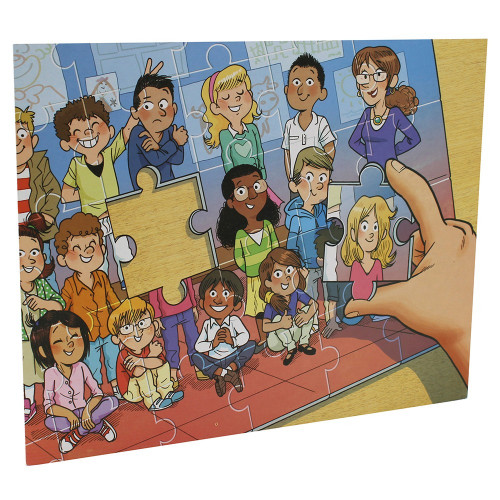 Cartonnage photo scolaire - Groupe 20x30 - Puzzle