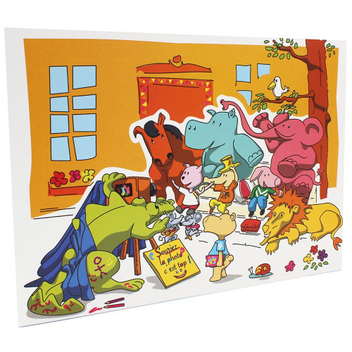 Cartonnage photo scolaire - Groupe 20x30 - Les Animaux New