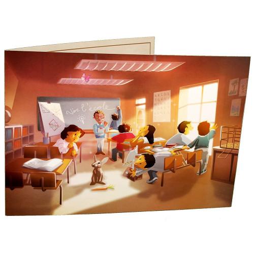 Cartonnage photo scolaire - Groupe 20x30 - La classe