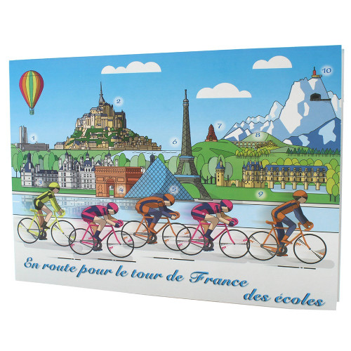 Cartonnage photo scolaire - Groupe 20x30 - Tour de France