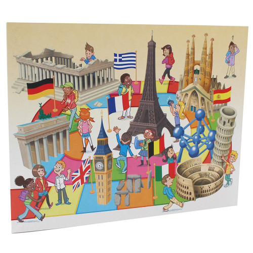 Cartonnage photo scolaire - Groupe 20x30 - Europe