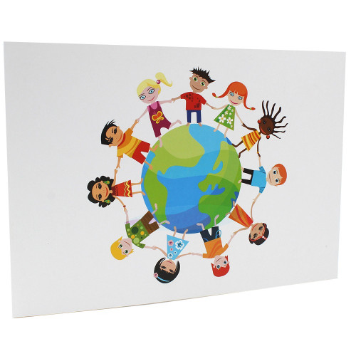 Cartonnage photo scolaire - Groupe 20x30 - Terre