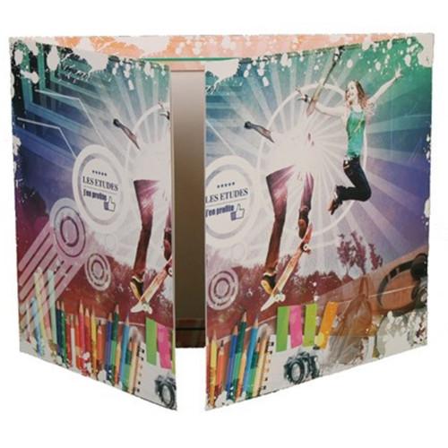 Cartonnage photo triptyque 13x18+18x24+pochette - Les études