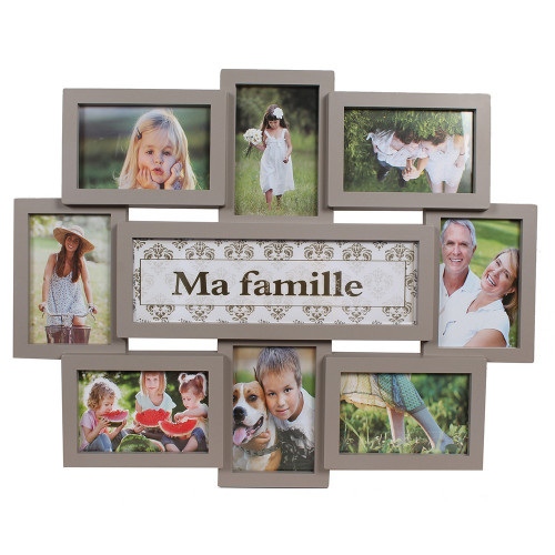 CADRE PHOTO MULTIVUES MA FAMILLE TAUPE