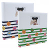 Lot de 2 albums traditionnel Shining Flowers pour 400 photos - Bleu Vert