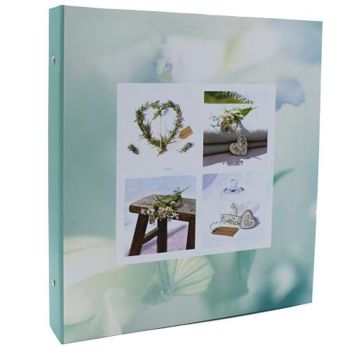 Classeur photo à pochettes Blooming Love Vert pour 400 photos 11x15