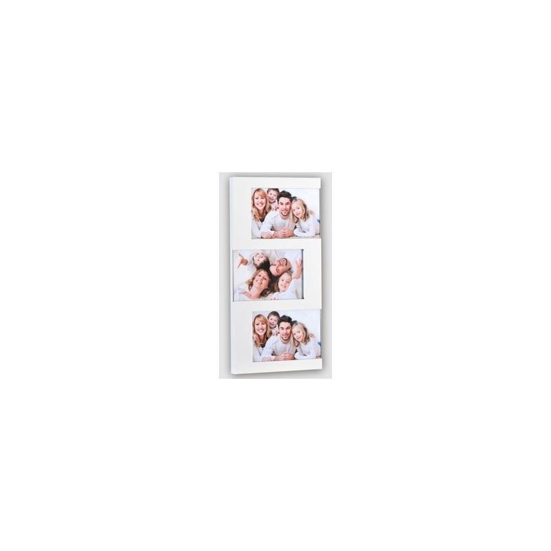 Pêle- mêle photo 3 vues 10x15 - Blanc métal