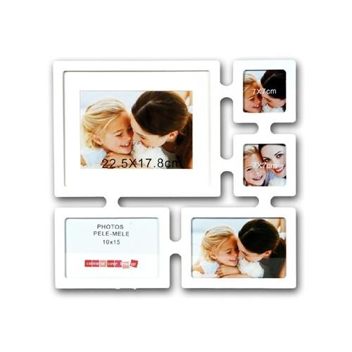 Cadre Zia multivues pour 5 photos - Blanc