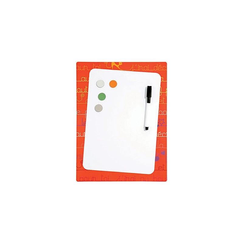 Pêle-mêle Mémo magnétique souple-Frigo 24x32 en plastique souple - Orange