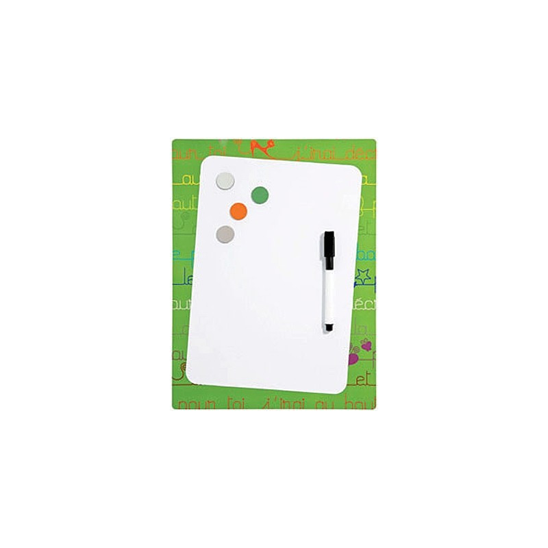 Pêle-mêle Mémo magnétique souple-Frigo 24x32 en plastique souple -Vert