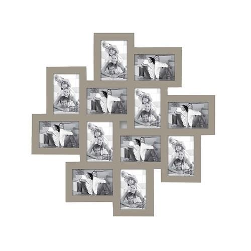 Cadre multi-vues Big Star pour 12 photos 10x15 - Taupe